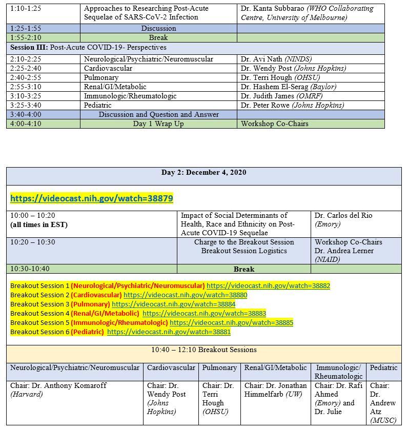 COVID19 Workshop Agenda Day 1  Day 2 Dec 3 and 4 2020 .JPG