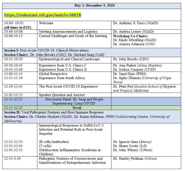 COVID19 Workshop Agenda Day 1  Dec 3 2020.JPG