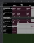 Protocol schedule