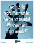 We are not crumbs!  We should not accept crumbs!  - Larry Kramer.jpg